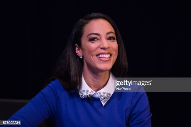 Angela Rye CEO of Impact Strategies political commentator and analyst for CNN and NPR sits on a panel for The State of Black America town hall taping...