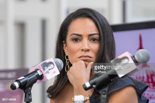 Angela Rye political commentator on CNN and an NPR political analyst hosted Senator Cory Booker on her podcast 'On 1 with A Rye' at The Congressional...