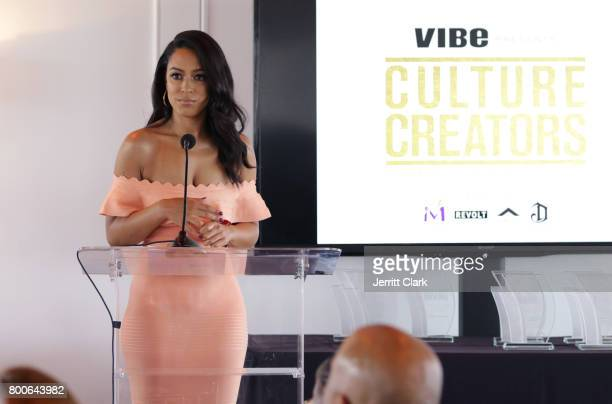 Angela Rye speaks at Culture Creators 2nd Annual Awards Brunch Presented By Motions Hair And Ciroc at Mr C Beverly Hills on June 24 2017 in Beverly...