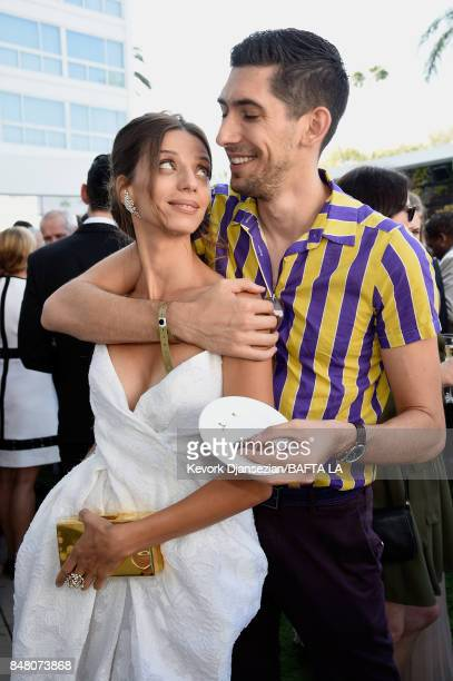 Angela Sarafyan and Max Landis attend the BBC America BAFTA Los Angeles TV Tea Party 2017 at The Beverly Hilton Hotel on September 16 2017 in Beverly...