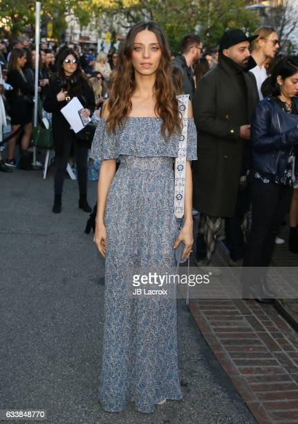 Angela Sarafyan attends designer Rebecca Minkoff's Spring 2017 'See Now Buy Now' Fashion Show at The Grove on February 4 2017 in Los Angeles...
