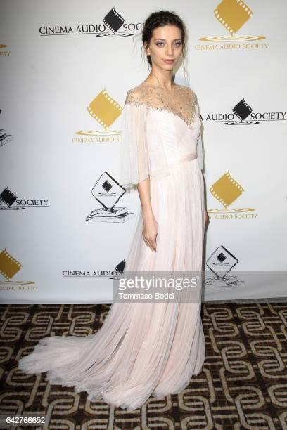 Angela Sarafyan attends the 53rd Annual Cinema Audio Society Awards held at Omni Los Angeles Hotel at California Plaza on February 18 2017 in Los...