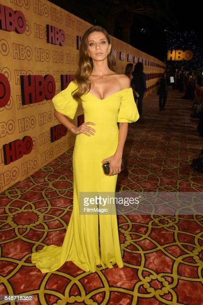 Angela Sarafyan attends the HBO's Official 2017 Emmy After Party at The Plaza at the Pacific Design Center on September 17 2017 in Los Angeles...