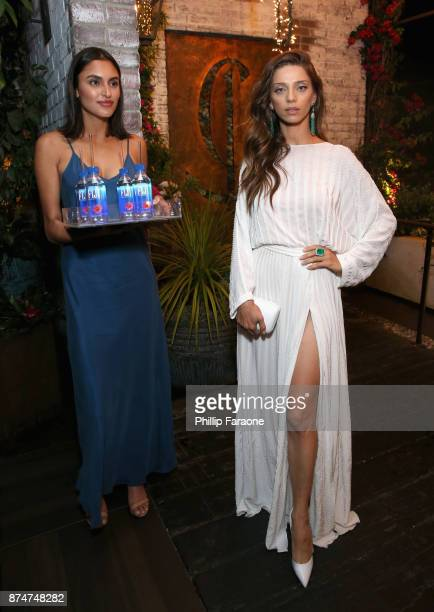 Angela Sarafyan attends the HFPA's and InStyle's Celebration of the 2018 Golden Globe Awards Season and the Unveiling of the Golden Globe Ambassador...