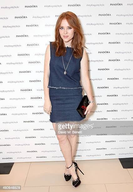 REQUIRED Angela Scanlon at the Pandora #MyRingsMyStyle launch at The Marble Arch Pandora Store on May 21 2014 in London England