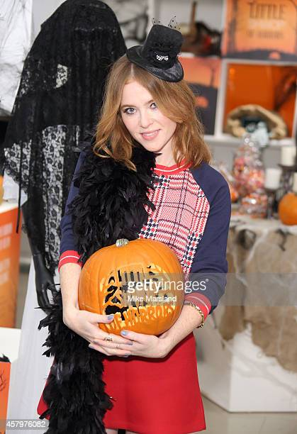 Angela Scanlon attends a photocall to open Marks and Spencer Little Shwop of Horrors at Marks Spencer Marble Arch on October 28 2014 in London England