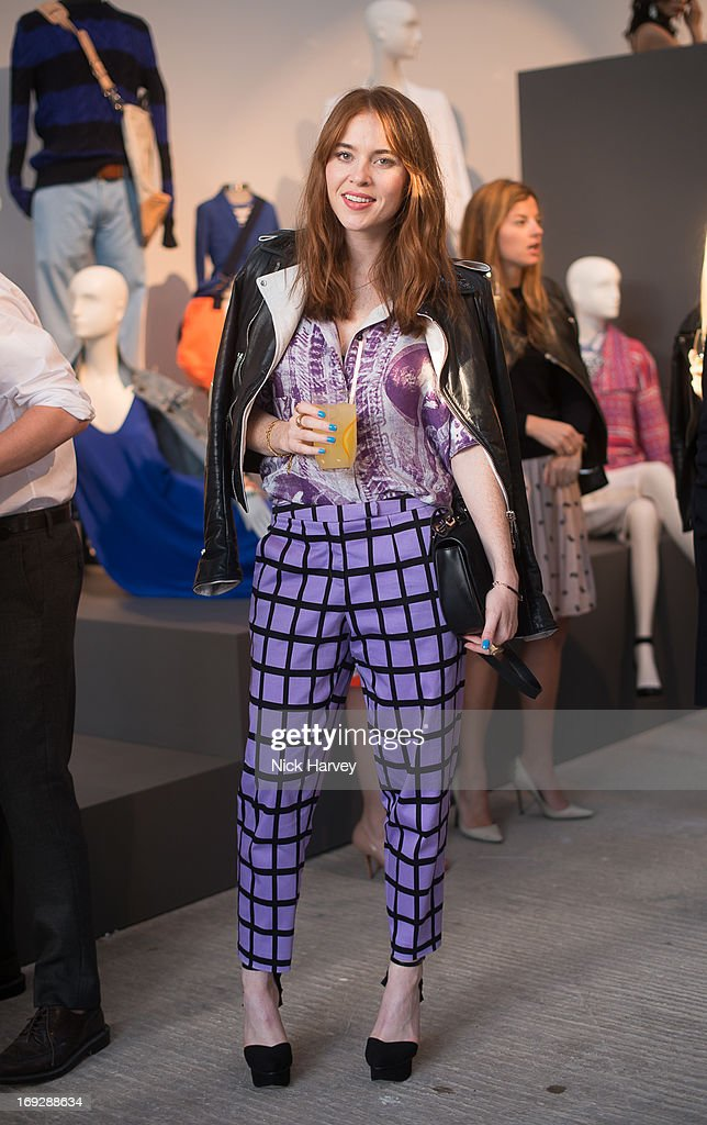 Angela Scanlon attends private event to celebrate J.Crew And Central Saint Martins partnership at J.Crew on May 22, 2013 in London, England.