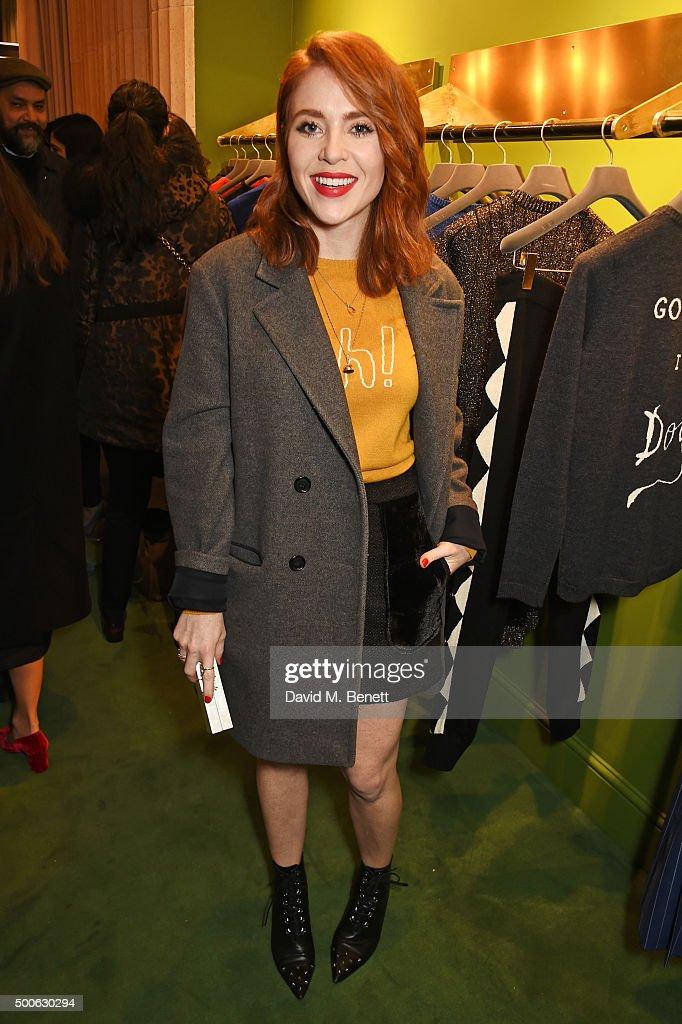 Angela Scanlon attends the Bella Freud store launch in Marylebone on December 9, 2015 in London, England.