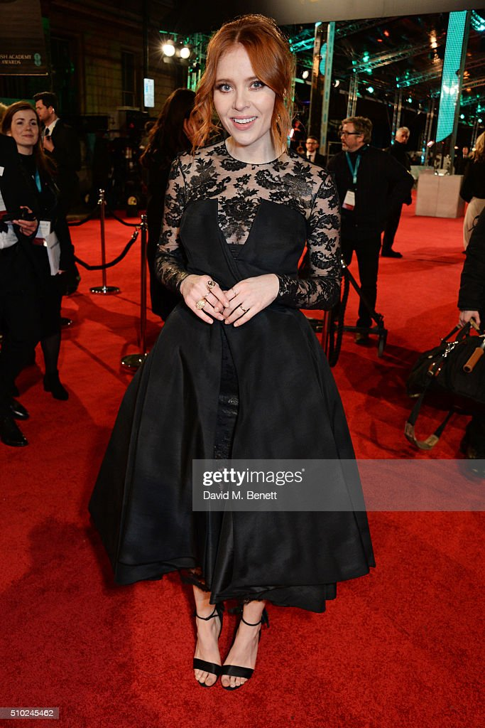 <a gi-track='captionPersonalityLinkClicked' href=/galleries/search?phrase=Angela+Scanlon&family=editorial&specificpeople=9752135 ng-click='$event.stopPropagation()'>Angela Scanlon</a> attends the EE British Academy Film Awards at The Royal Opera House on February 14, 2016 in London, England.