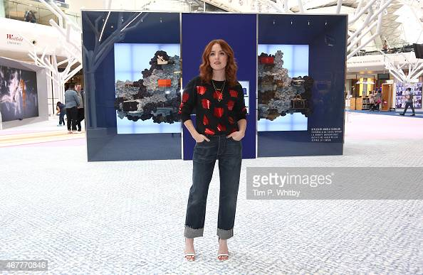 Angela Scanlon attends the launch of Future Fashion a popup experience showcasing trends through technology Three pods reflect one of the seasons key...