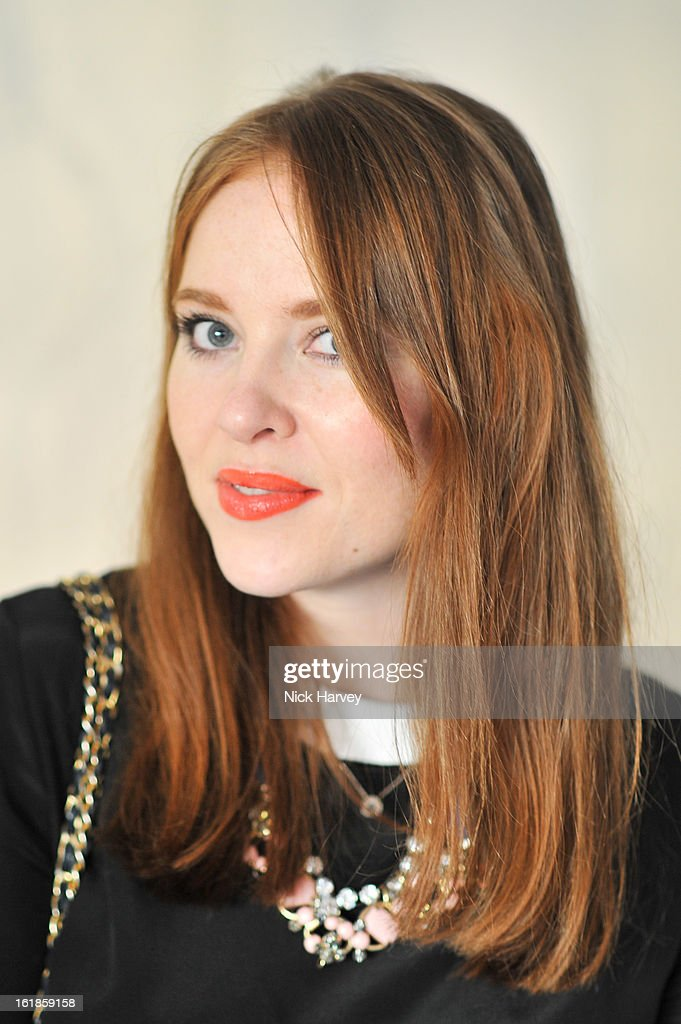 Angela Scanlon attends the Mark Fast salon show during London Fashion Week Fall/Winter 2013/14 at ME Hotel on February 17, 2013 in London, England.