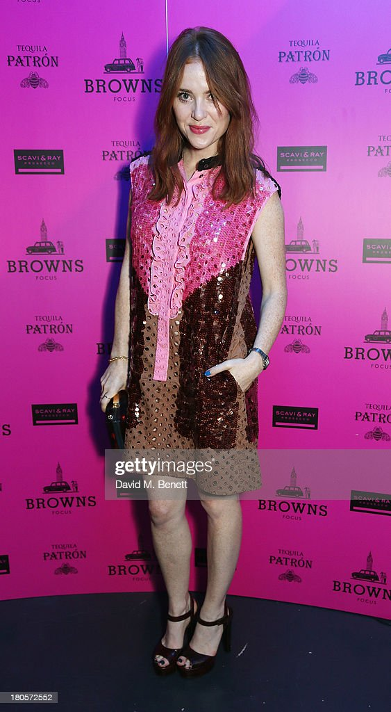 <a gi-track='captionPersonalityLinkClicked' href=/galleries/search?phrase=Angela+Scanlon&family=editorial&specificpeople=9752135 ng-click='$event.stopPropagation()'>Angela Scanlon</a> attends the party hosted by Browns Focus & Designer Brian Lichtenberg to officially launch the NEW Browns Focus at 24 South Molton Street on September 14, 2013 in London, United Kingdom.