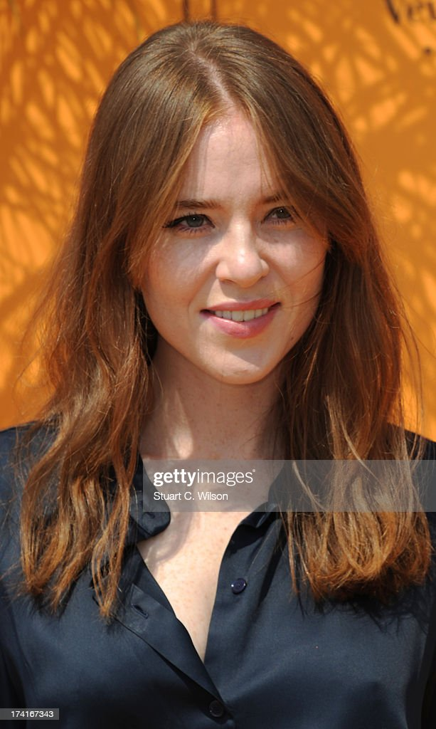Angela Scanlon attends the Veuve Clicquot Gold Cup final at Cowdray Park Polo Club on July 21, 2013 in Midhurst, England.