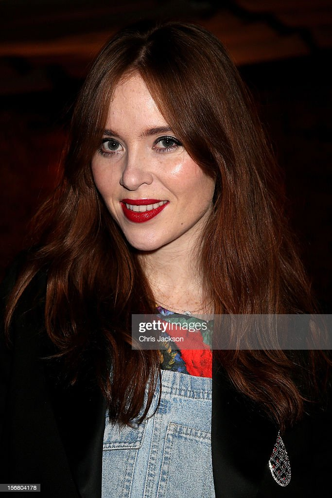 Angela Scanlon attends the Vodafone Fashionable Pub Quiz at Shoreditch House on November 21, 2012 in London, United Kingdom. As Principal Sponsor of London Fashion Week, the quiz celebrated Vodafone's commitment to British Fashion.