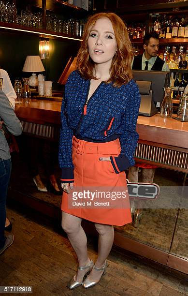 Angela Scanlon attends The Voice UK Open Mic Night at The Scotch of St James on March 23 2016 in London England