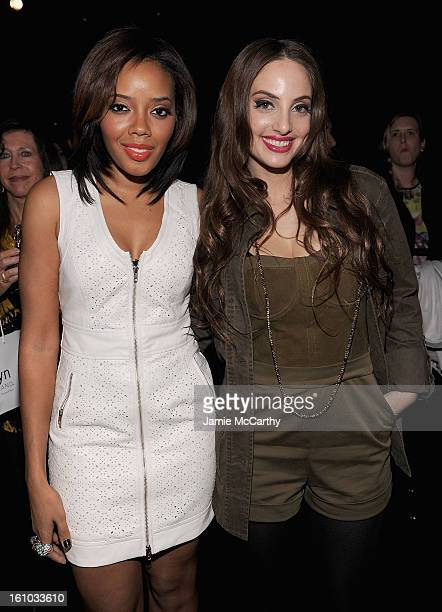 Angela Simmons and Alexa Ray Joel attend the Charlotte Ronson Fall 2013 MercedesBenz Fashion Week Presentation at the Box at Lincoln Center on...