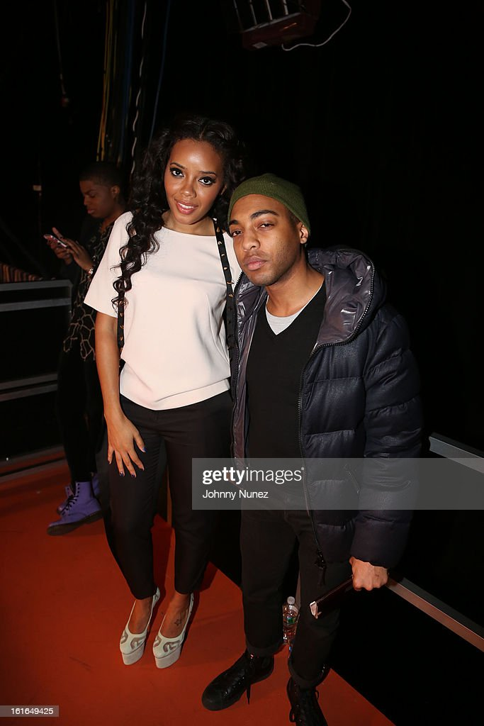<a gi-track='captionPersonalityLinkClicked' href=/galleries/search?phrase=Angela+Simmons&family=editorial&specificpeople=653461 ng-click='$event.stopPropagation()'>Angela Simmons</a> and Byron Edwards visits BET's '106 & Park' at BET Studios on February 13, 2013 in New York City.
