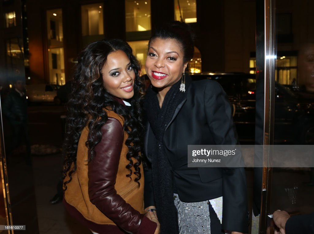 <a gi-track='captionPersonalityLinkClicked' href=/galleries/search?phrase=Angela+Simmons&family=editorial&specificpeople=653461 ng-click='$event.stopPropagation()'>Angela Simmons</a> and <a gi-track='captionPersonalityLinkClicked' href=/galleries/search?phrase=Taraji+P.+Henson&family=editorial&specificpeople=208823 ng-click='$event.stopPropagation()'>Taraji P. Henson</a> attend the Jason Bolden For SCHUTZ Launch at Schutz on February 12, 2013 in New York City.
