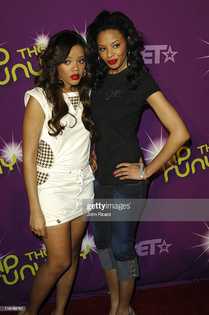 Angela Simmons and Vanessa Simmons during BET's Rip the Runway 2007 Arrivals at Hammerstein Ballroom in New York City New York United States