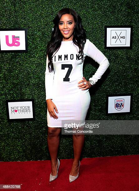 Angela Simmons attends Angela Simmons Presents Foofi and Harlem Globetrotters 90th Anniversary Collection at KIA STYLE360 on September 15 2015 in New...