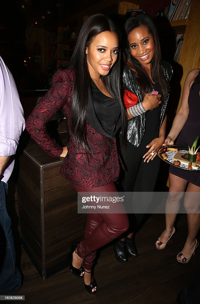 Angela Simmons (L) attends Kevin Liles' 45th birthday party at The Rec Room on February 27, 2013, in New York City.
