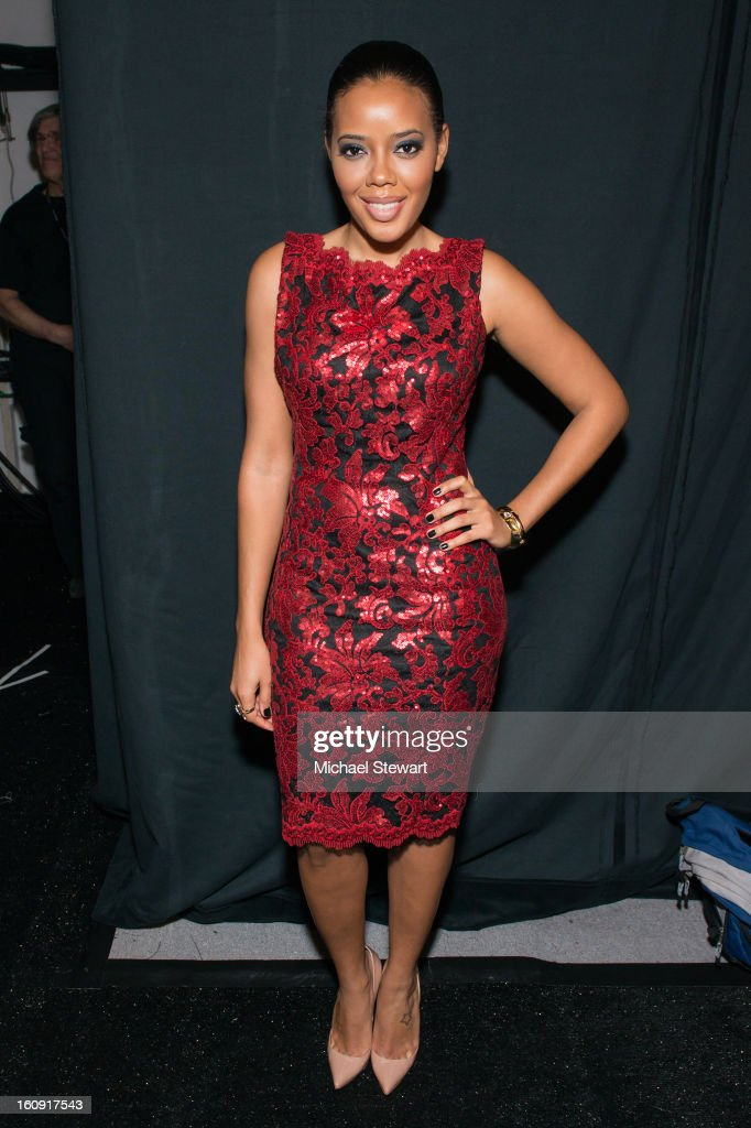 Angela Simmons attends Tadashi Shoji during Fall 2013 Mercedes-Benz Fashion Week at The Stage at Lincoln Center on February 7, 2013 in New York City.