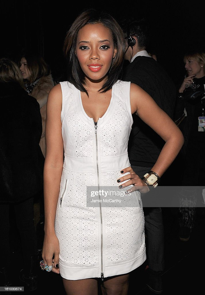 Angela Simmons attends the Charlotte Ronson Fall 2013 Mercedes-Benz Fashion Week Presentation at the Box at Lincoln Center on February 8, 2013 in New York City.