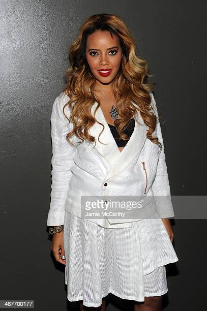 Angela Simmons attends the Charlotte Ronson Fall / Winter 2014 Presentation at The Hub at The Hudson Hotel on February 7 2014 in New York City