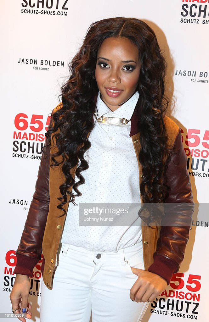 Angela Simmons attends the Jason Bolden For SCHUTZ Launch at Schutz on February 12, 2013 in New York City.