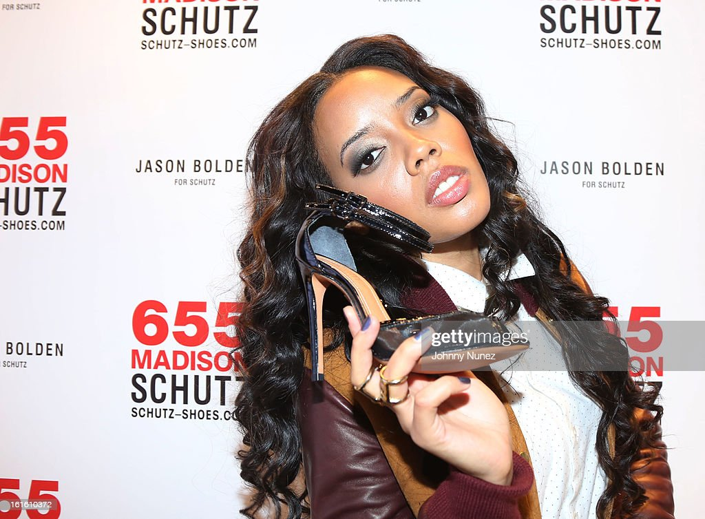 <a gi-track='captionPersonalityLinkClicked' href=/galleries/search?phrase=Angela+Simmons&family=editorial&specificpeople=653461 ng-click='$event.stopPropagation()'>Angela Simmons</a> attends the Jason Bolden For SCHUTZ Launch at Schutz on February 12, 2013 in New York City.