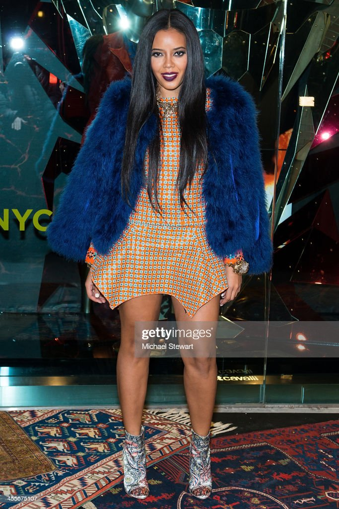 Angela Simmons attends the Just Cavalli Soho Flagship store opening at Just Cavalli Soho on December 12 2013 in New York City
