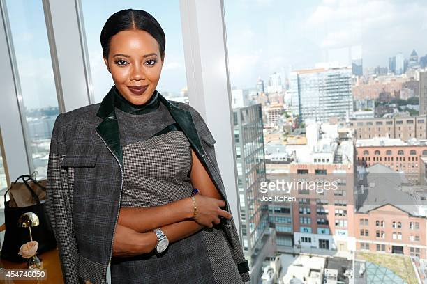 Angela Simmons attends the Rubin Chapelle Spring 2015 Presentation at The Top of The Standard on September 5 2014 in New York City