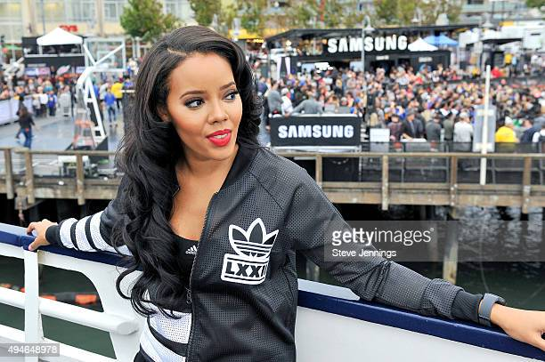 Angela Simmons attends the Samsung Experience at NBA Opening Night 2015 at Pier 43 on October 27 2015 in San Francisco California
