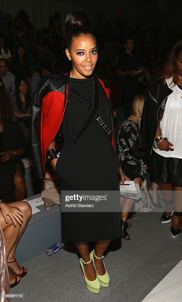 <a gi-track='captionPersonalityLinkClicked' href=/galleries/search?phrase=Angela+Simmons&family=editorial&specificpeople=653461 ng-click='$event.stopPropagation()'>Angela Simmons</a> attends the TRESemme at Vivienne Tam fashion show during Mercedes-Benz Fashion Week Spring 2014 at The Stage at Lincoln Center on September 8, 2013 in New York City.