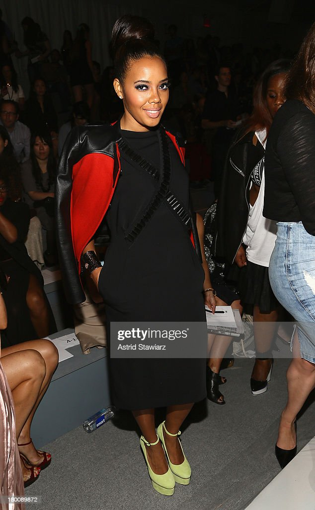 <a gi-track='captionPersonalityLinkClicked' href=/galleries/search?phrase=Angela+Simmons&family=editorial&specificpeople=653461 ng-click='$event.stopPropagation()'>Angela Simmons</a>(R) attends the TRESemme at Vivienne Tam fashion show during Mercedes-Benz Fashion Week Spring 2014 at The Stage at Lincoln Center on September 8, 2013 in New York City.