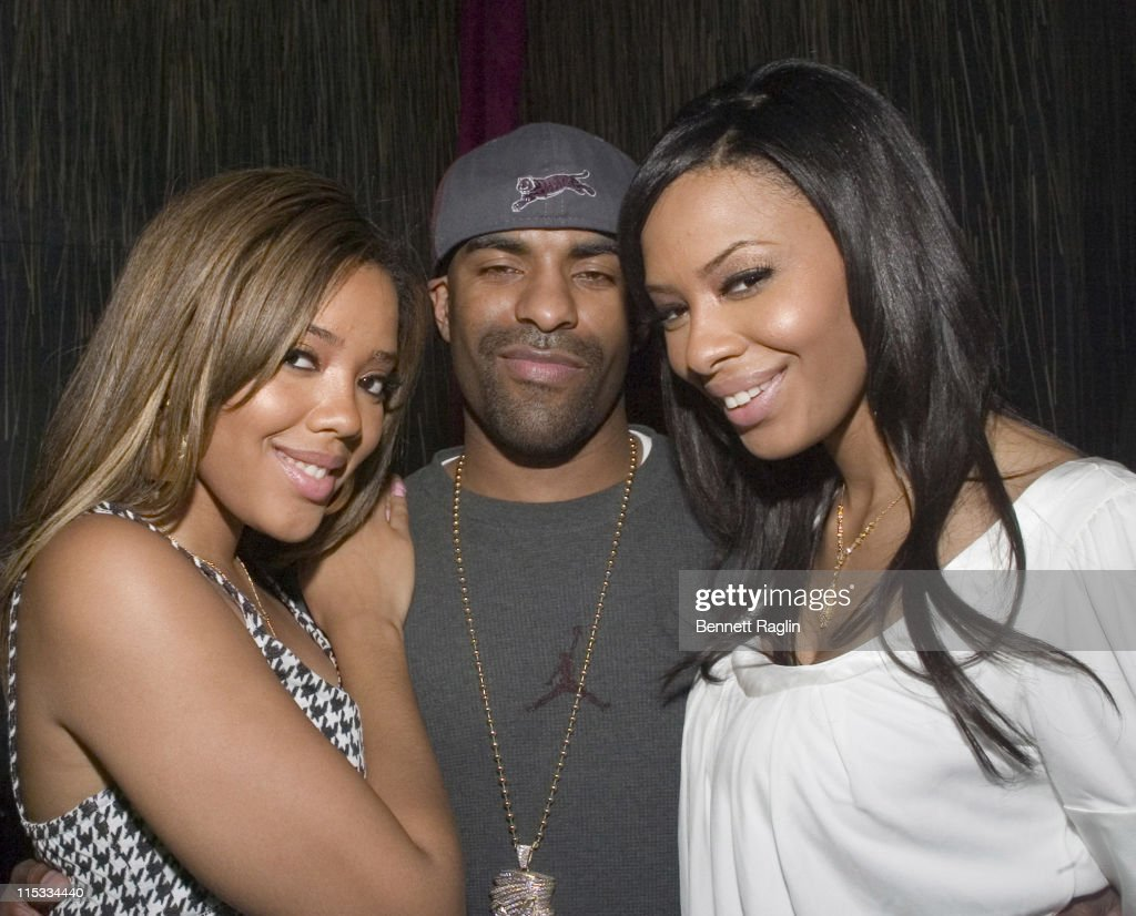 Angela Simmons DJ Clue and Vanessa Simmons during New York Launch of Vanessa and Angela's New Sneaker 'Pastry' After Party at Ultra in New York City...