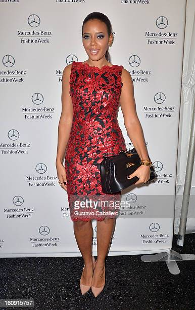 Angela Simmons is seen during Fall 2013 MercedesBenz fashion week at Lincoln Center on February 7 2013 in New York City