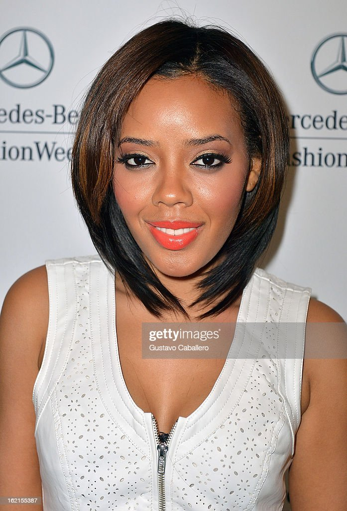 Angela Simmons is seen during Fall 2013 Mercedes-Benz Fashion Week at Lincoln Center for the Performing Arts on February 8, 2013 in New York City.