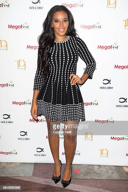 Angela Simmons poses before the MegaFest Millennial Panel at the Omni Hotel Texas on August 22 2015 in Dallas Texas