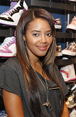 Angela Simmons poses during her visit to Foot Locker Herald Square on July 7 2009 in New York City