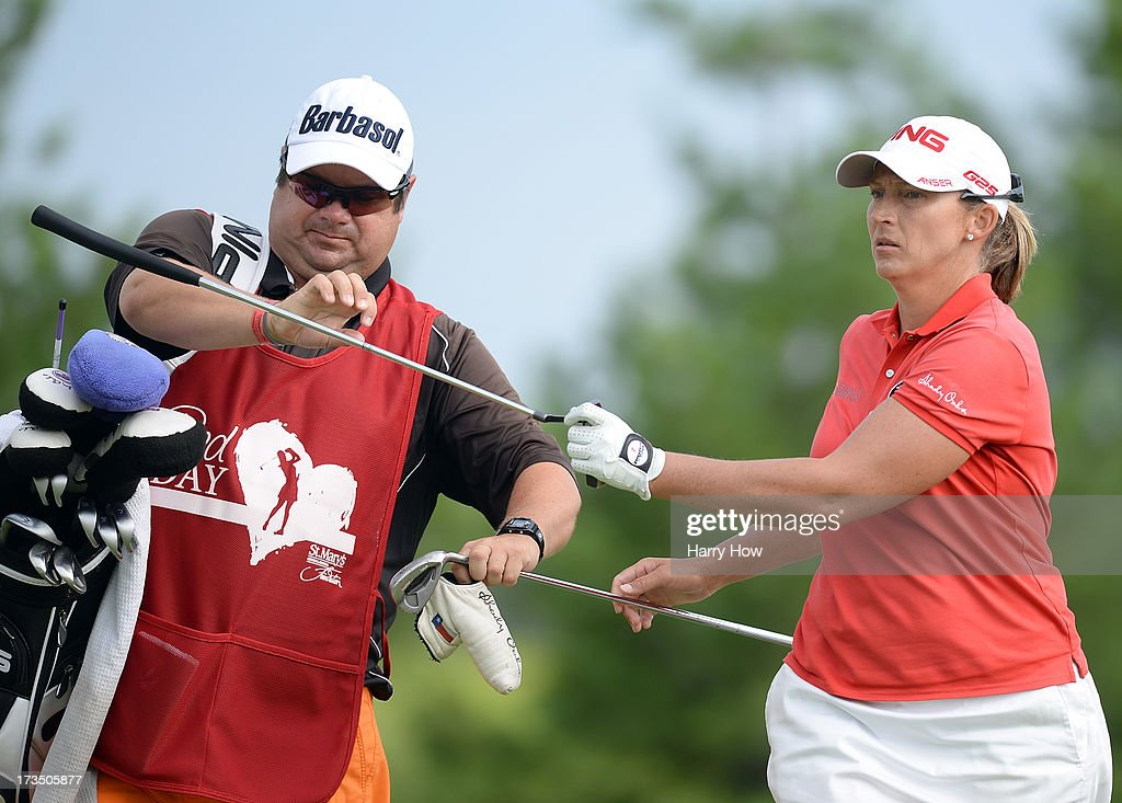 <a gi-track='captionPersonalityLinkClicked' href=/galleries/search?phrase=Angela+Stanford&family=editorial&specificpeople=220267 ng-click='$event.stopPropagation()'>Angela Stanford</a> during round two of the Manulife Financial LPGA Classic at the Grey Silo Golf Course on July 12, 2013 in Waterloo, Canada.