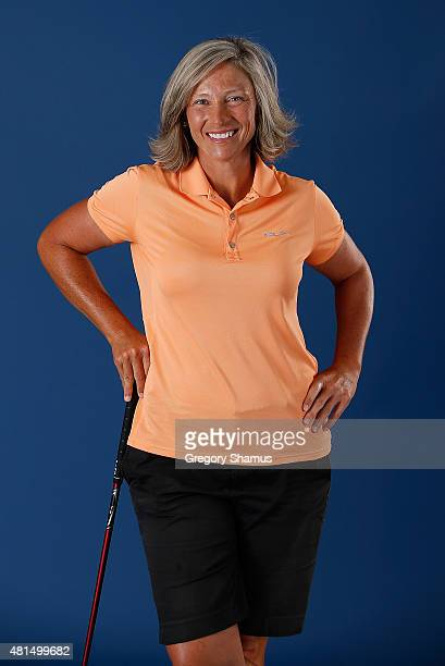 Angela Stanford poses for a portrait prior to the Meijer LPGA Classic presented by Kraft at Blythefield Country Club on July 21 2015 in Grand Rapids...