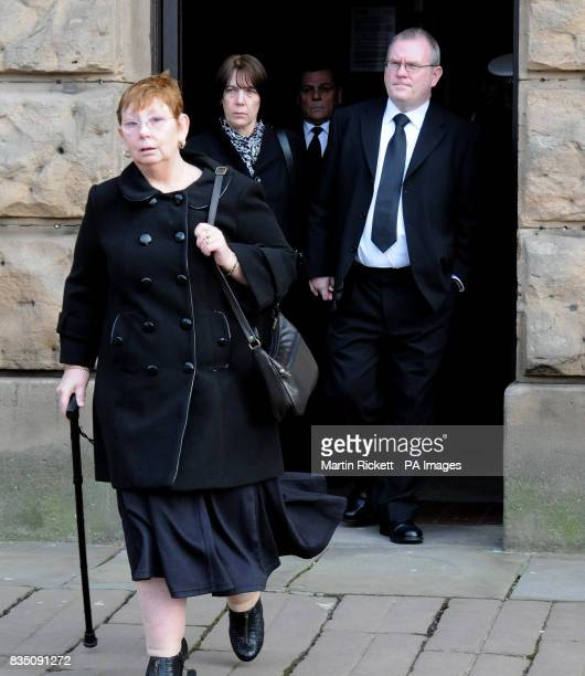 Angela Statham with Carole and Peter Hagans leave Chester Crown Court after Portuguese lorry driver Paulo Jorge Nogueira da Silva was jailed for...