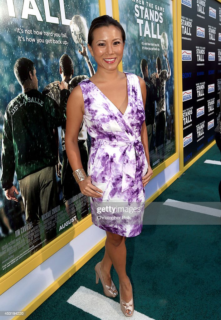 Angela Sun attends the premiere of Tri Star Pictures' 'When The Game Stands Tall' at ArcLight Cinemas on August 4, 2014 in Hollywood, California.