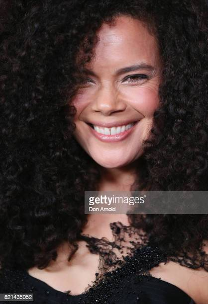 Angela Tiatia arrives ahead of the 17th Annual Helpmann Awards at Lyric Theatre Star City on July 24 2017 in Sydney Australia