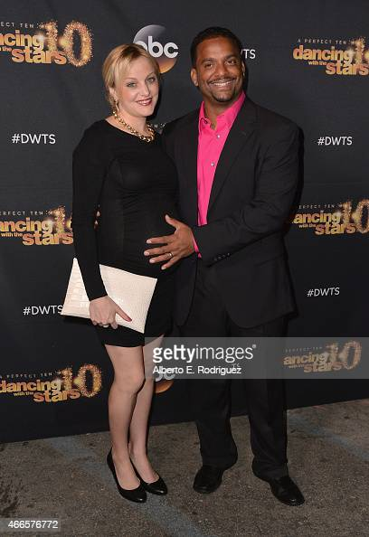 Angela Unkrich and actor Alfonso Ribeiro attend the premiere of ABC's 'Dancing With The Stars' season 20 at HYDE Sunset Kitchen Cocktails on March 16...