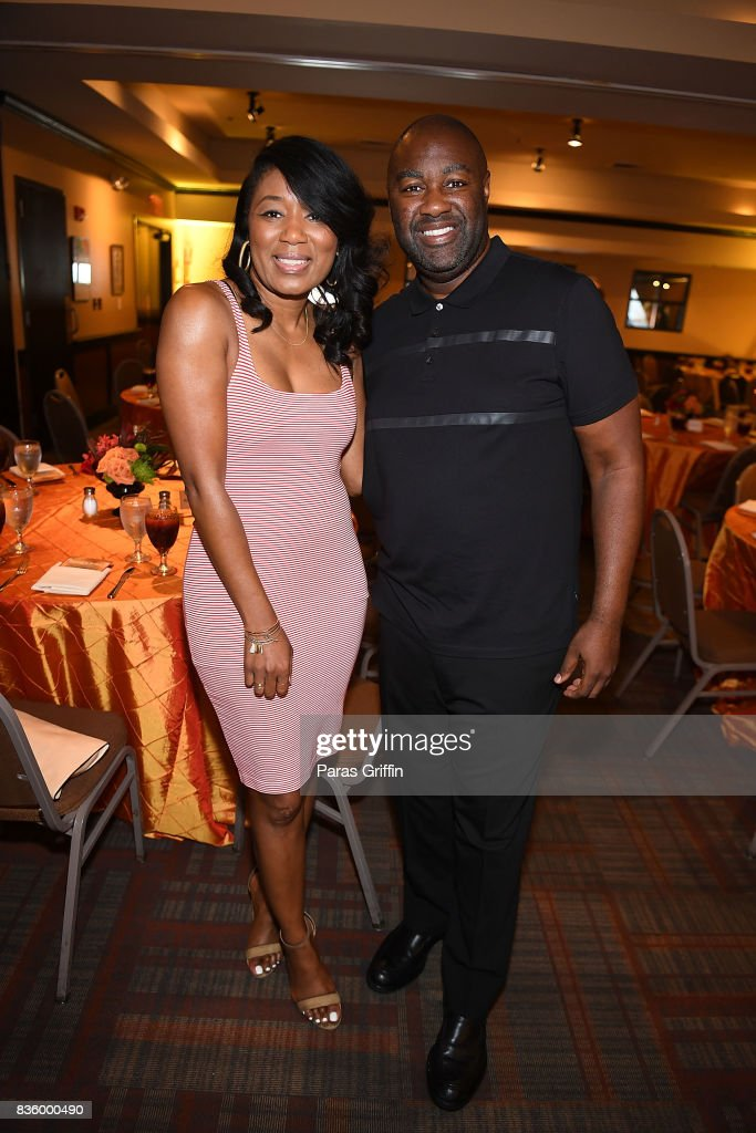 Angela Watts and Jamahl L. King at Upscale Magazine's Brunch Style featuring Vivian Green on August 20, 2017 in Atlanta, Georgia.