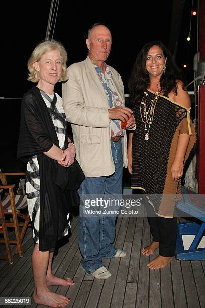 Angela Westwater Bruce Nauman and Angela Missoni attend the Bruce Nauman dinner party hosted by Missoni on the boat 'Timoteo' during the 2009 Venice...