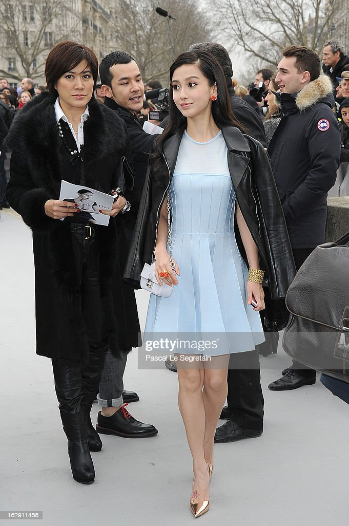 Angela Wing Yeung arrives to attend the Christian Dior Fall/Winter 2013 Ready-to-Wear show as part of Paris Fashion Week on March 1, 2013 in Paris, France.