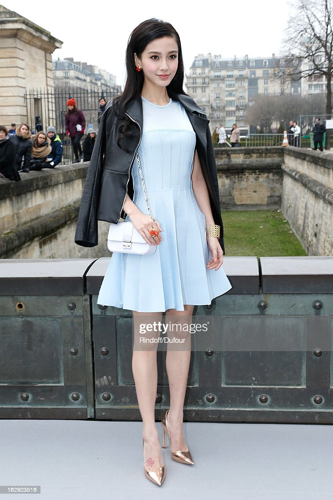 Angela Wing Yeung attends the Christian Dior Fall/Winter 2013 Ready-to-Wear show as part of Paris Fashion Week on March 1, 2013 in Paris, France.